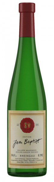 J.B. Becker Wallufer Walkenberg Riesling Auslese trocken Edition Jean Baptist 2015